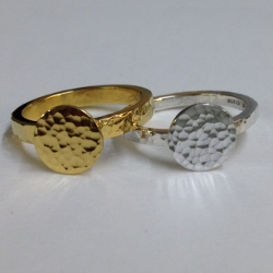 68433 - Handmade 18ct Vermeil 2 piece Ring set in Sterling Silver